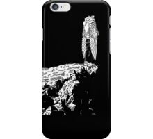 Standing on the cliff face BLACK iPhone Case/Skin
