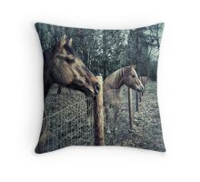 Horses of Blu Hole Ranch Throw Pillow