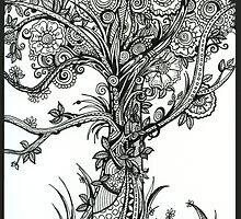 Elegance An Ink Drawing by Danielle Scott