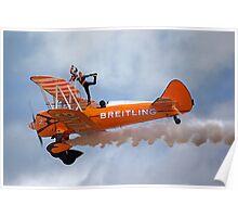 Breitling Wingwalking Team's Stearman Poster