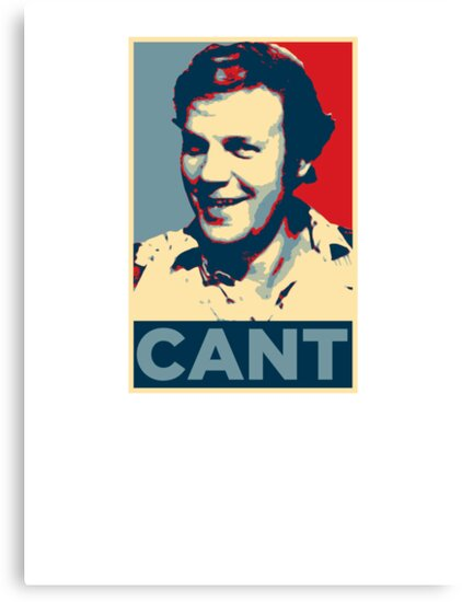 YES WE CANT: Barack Obama styled poster by unloveablesteve