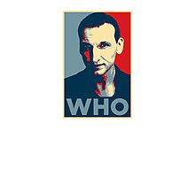 Doctor Who Chris Eccleston Barack Obama Hope style poster Photographic Print