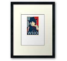 Doctor Who Tom Baker Barack Obama Hope style poster Framed Print