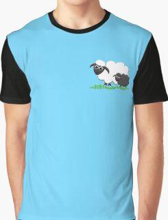 Baby Black Sheep with Ewe Mom Graphic T-Shirt