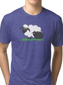 Baby Black Sheep with Ewe Mom Tri-blend T-Shirt