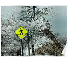Ice Scene Poster