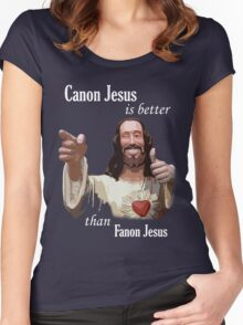 Canon Jesus Women's Fitted Scoop T-Shirt