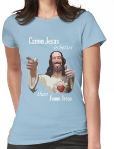 Canon Jesus Womens Fitted T-Shirt
