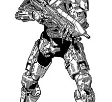 Luke as the Master Chief by nabila  rouabah