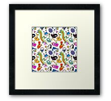 Cute Adventure time pattern! Framed Print