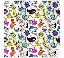 Cute Adventure time pattern! Poster