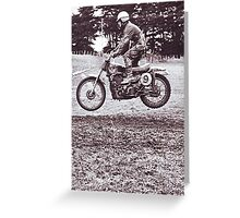 Grandad didn't need a bump to become airborne.......! Greeting Card