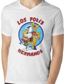 Los Pokés Hermanos Mens V-Neck T-Shirt