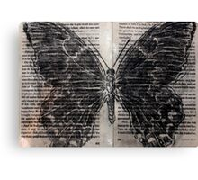Charcoal Butterfly Canvas Print