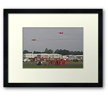 The Red Duo Formation Team - Dunsfold 2013 Framed Print