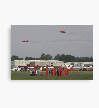 The Red Duo Formation Team - Dunsfold 2013 Canvas Print