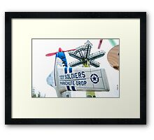 Toy Soldiers Plane Framed Print