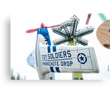 Toy Soldiers Plane Canvas Print