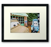 Cars Garage Framed Print