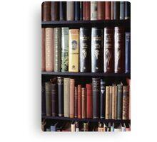 Books on a bookshelf Canvas Print