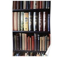 Books on a bookshelf Poster