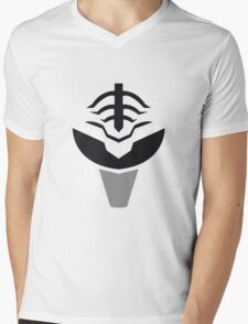 Mighty Morphin Power Rangers White Ranger Mens V-Neck T-Shirt