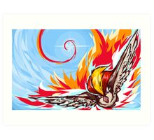 Pidgeot | Brave Bird Art Print