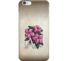 A is for Azalea - patch iPhone Case/Skin