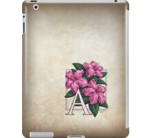 A is for Azalea - patch iPad Case/Skin