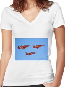 Red Arrows Women's Fitted V-Neck T-Shirt