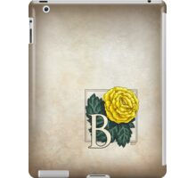 B is for Begonia - full image iPad Case/Skin