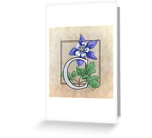 C is for Columbine - full image Greeting Card