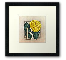 B is for Begonia - full image Framed Print