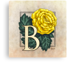 B is for Begonia - full image Canvas Print