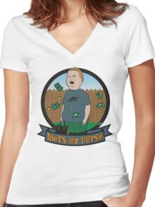 King of the Hill Inspired - Bobby Hill Self-Defense - That's My Purse - Bobby Hill Parody Women's Fitted V-Neck T-Shirt