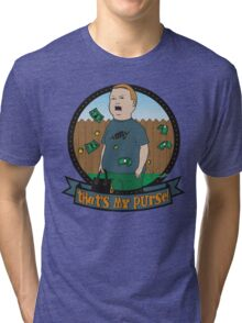 King of the Hill Inspired - Bobby Hill Self-Defense - That's My Purse - Bobby Hill Parody Tri-blend T-Shirt