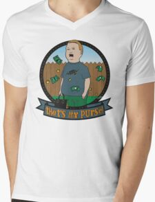 King of the Hill Inspired - Bobby Hill Self-Defense - That's My Purse - Bobby Hill Parody Mens V-Neck T-Shirt