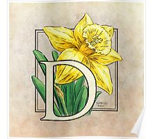 D is for Daffodil - full image Poster