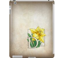 D is for Daffodil - patch iPad Case/Skin