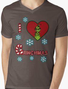 Merry Merry Grinchmas Mens V-Neck T-Shirt
