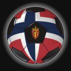 Norway - Norwegian Flag - Football or Soccer by graphix