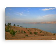 Observation point of the Kineret Canvas Print