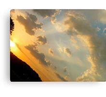 Romanian Sun Ariel View Canvas Print