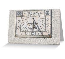 Sundial, Lytham St Annes, England Greeting Card