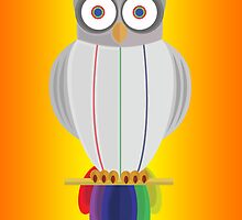 Rainbow Owl (Orange Yellow) by Adamzworld