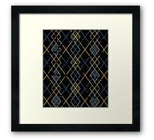 Argyle Blue/Grey Framed Print