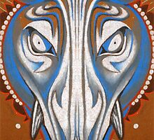 blue boar totem. by resonanteye