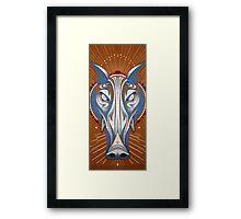 blue boar totem. Framed Print