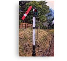 Signal on the North Norfolk Railway Canvas Print