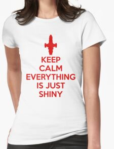 Keep Calm - Shiny Womens Fitted T-Shirt